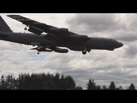Xxx Mp4 USAF B 52 Landing At YXX Abbotsford Airport 2015 3gp Sex