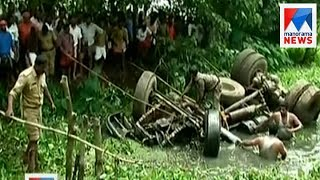 Rescue attempt continues to lift lorry from canal in Kottayam | Manorama News