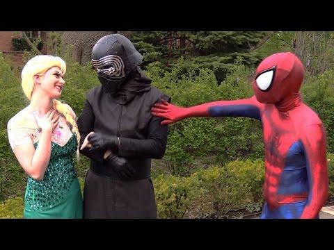 Spider-Man and Frozen Elsa BREAK UP! Real Life Superhero Movie - theSeanWardShow