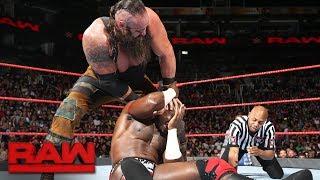 Apollo Crews vs. Braun Strowman: Raw, July 3, 2017