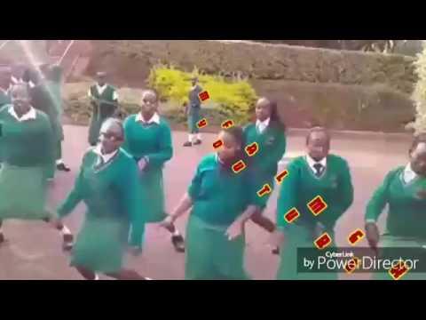 Dance by Kenya's high school girls_kelele takatifu- bamba mbaya dance