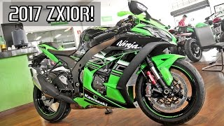 2017 Kawasaki Ninja ZX10R Details, Specs & Sound! - BIKERS GARAGE #09