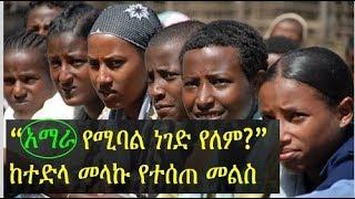 አማራ የሚባል ነገድ የለም? - ከተድላ መላኩ የተሰጠ መልስ   Tedla Melaku responds to the controversy of 'Amhara Tribe'