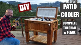 How to Make a Patio Cooler Ice Chest