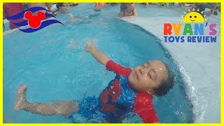 Family Fun in the Mickey Mouse Pool Finding Nemo Splash Pad Disney Cruise Fantasy Play Area for Kids