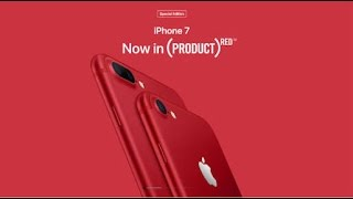 Apple introduces iPhone 7 and iPhone 7 Plus (PRODUCT)RED Special Edition