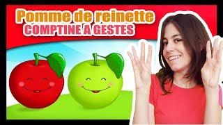 Pomme de reinette et pomme d'api - Comptines à gestes pour bébés - Titounis