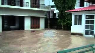 River Ganga Flooding Swami Dayananda Ashram Rishikesh 19 Sep 2010