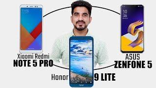 ASUS Zenfone 5 vs Xiaomi Redmi Note 5 Pro vs Honor 9 Lite: Comparison overview Hindi हिन्दी
