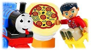 LEGO DUPLO 10834 Pizzeria Review with Thomas the Train Toys
