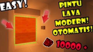 BIKIN Pintu LAVA MODERN OTOMATIS! - Final FULL REDSTONE Minecraft Indonesia #16