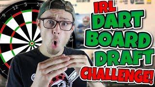 THE MOST EPIC IRL DART BOARD DRAFT!! Madden 18 Mut Draft