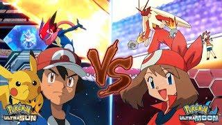 Pokémon Ultra Sun and Ultra Moon: Pokemon Ash Vs May (May Vs Ash Kalos)