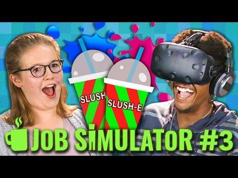 JOB SIMULATOR STORE CLERK HTC VIVE VR Teens React Gaming