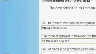 How to forward a domain name with 123-reg