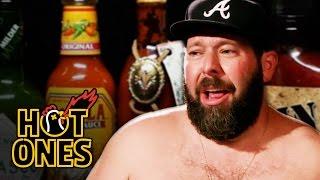 Bert Kreischer Sweats Profusely Eating Spicy Wings | Hot Ones