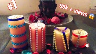 how to decorate candles or candle   ( home decoration )