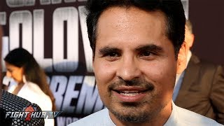 Actor Michael Pena Feels Mayweather McGregor great for the sport! Will get new fans to watch boxing