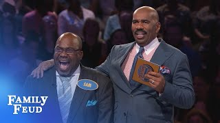BEHIND-THE-SCENES of the PATTERSONS' CRAZY Fast Money!!! | Family Feud