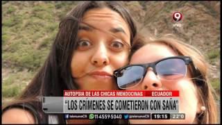 Autopsia de las chicas mendocinas asesinadas en ecuador
