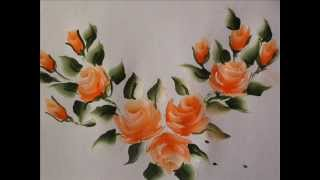 Rose buds painting with fevicryl acrylic colours tutorial 9