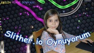 İlk Bilgisayar Oyunu Videosu - Slither.io Oynuyorum - Eğlenceli Oyun Videosu - Funny Games