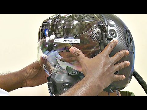 watch This $400,000 F-35 Helmet Can Let Pilot See Through Plane - Test Fit