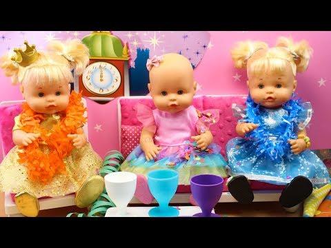 Fiestas Divertidas de Amigas Bebés Nenuco HERMANITAS TRAVIESAS Naia y Alice y la PRINCESA CUCA