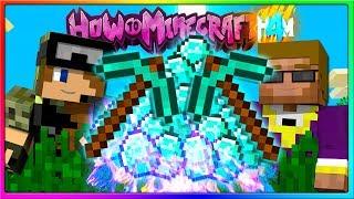 Minecraft - DIAMOND MINING CHALLENGE!   Episode 101 of H4M (How to Minecraft Season 4)