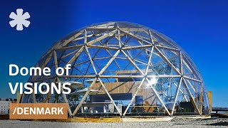 CNC-milled house dome inspired by Bucky Fuller's tensegrity