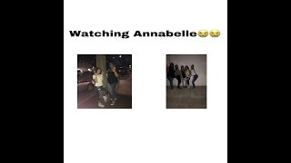 i went to go watch annebelle(it was scary)!!!!!