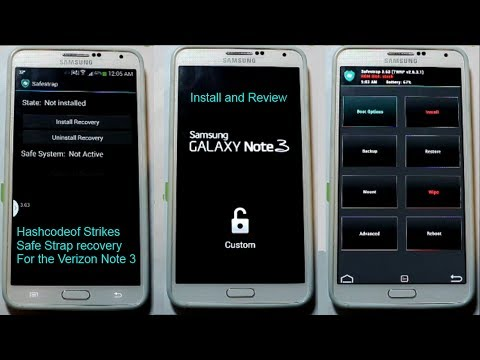 Verizon Galaxy Note 3 Safe Strap Recovery Install and Review