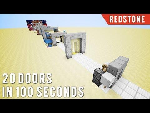 Minecraft: 20 Doors In 100 Seconds