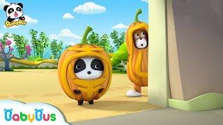 Baby Panda Wears Pumpkin Costume | Magical Chinese Characters | BabyBus