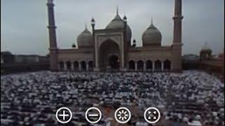 360-Degree View Of Thousands Offering Prayers At Delhi's Jama Masjid On Bakrid