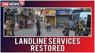 Kashmir LIVE: Landline Services Restored in 17 Exchanges in Valley