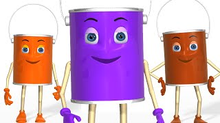 Learn Colors for Children - Learning Videos - Learn Colors for Kids Toddlers with Colours Cans