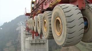 The biggest bridge construction machine, Heavy construction equipment world
