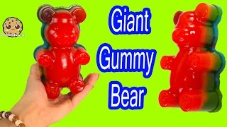 GIANT RAINBOW GUMMI BEAR Gummy Factory Create Gummi Bears Sweet N Sour Candy Kit Unboxing Video