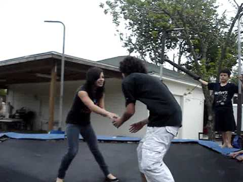 Boy and girl fight