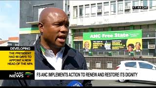 ANC Free State implements action to renew and restore its dignity