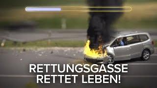 Neue Version: Rettungsgasse rettet Leben!