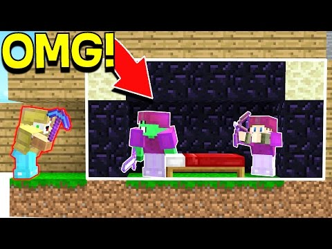 WE ACTUALLY GOT AWAY WITH THIS Minecraft YOUTUBER BED WARS