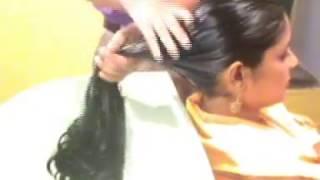 Moon Long Hair Wash Video