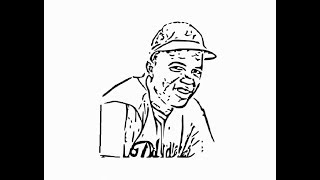 """How to draw """"Jackie Robinson Face"""" pencil drawing step by step"""