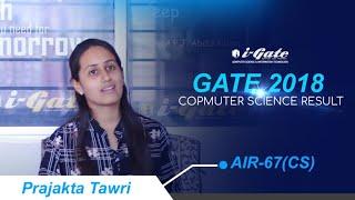 Prajakta Tawri AIR-67 GATE 2018 Computer Science Result | i-Gate Bhilai Toppers