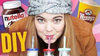 How to Make a Chocolate Milkshake! DIY Nutella Wendy's Frosty Shake!  - Chelsea Crockett
