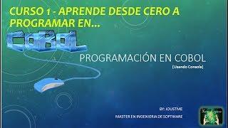 COBOL CURSO 1 - Introducción al cobol e instalación de herramienta para programar cobol