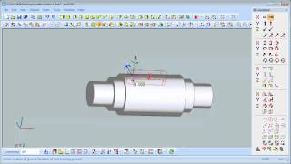 VariCAD - Rotation of 2D Profile into 3D Solid, Shaft Creation