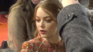 Emma STONE @ Paris Premiere LaLaLand 10 january 2017 Red Carpet / Janvier